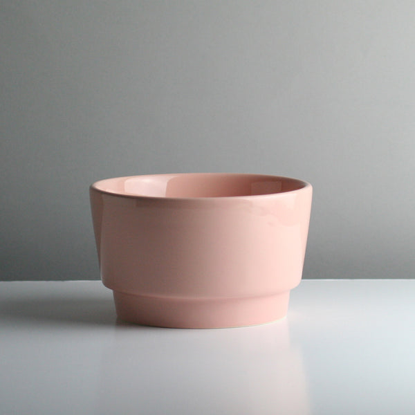 Ceramic Dog Bowl - Rose Gloss - Medium