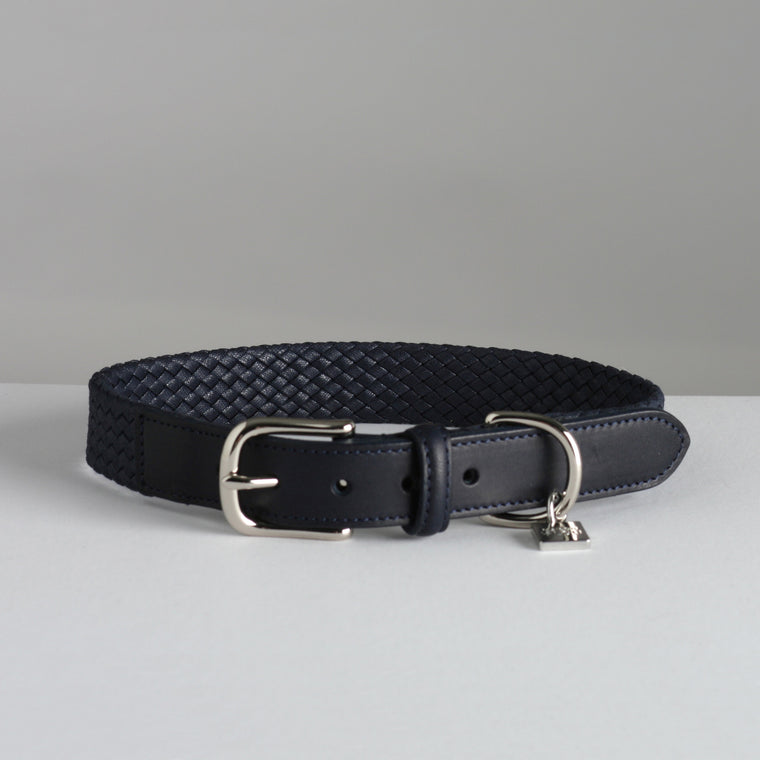 Bernard Dog Collar - French Navy