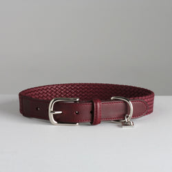 Maison Le Lou Luxury Dog Collar Bernard Wine