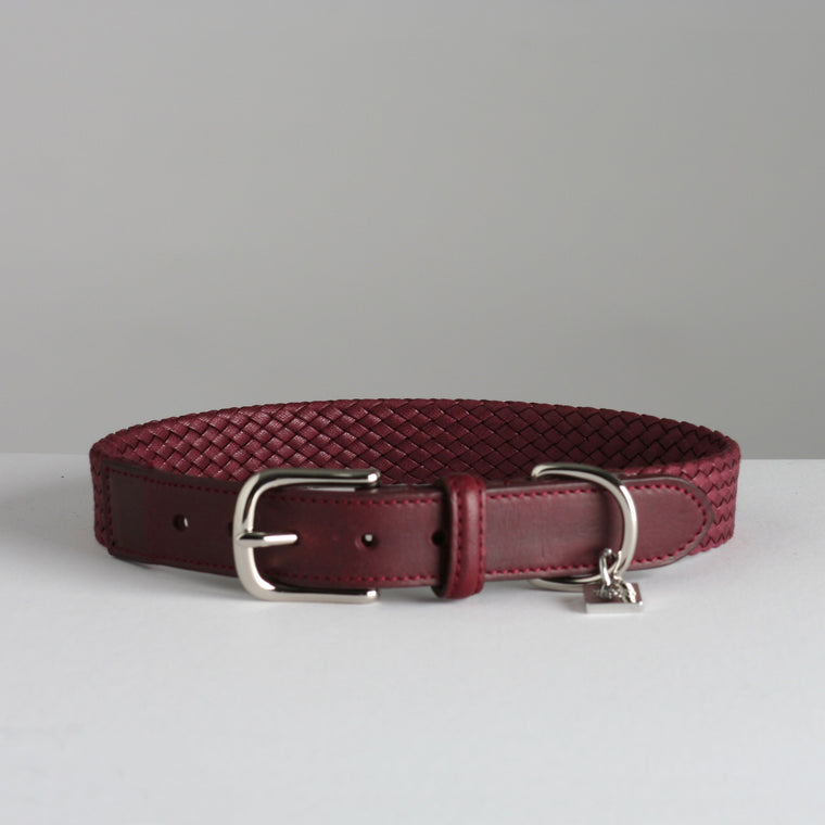 Bernard Dog Collar - Wine