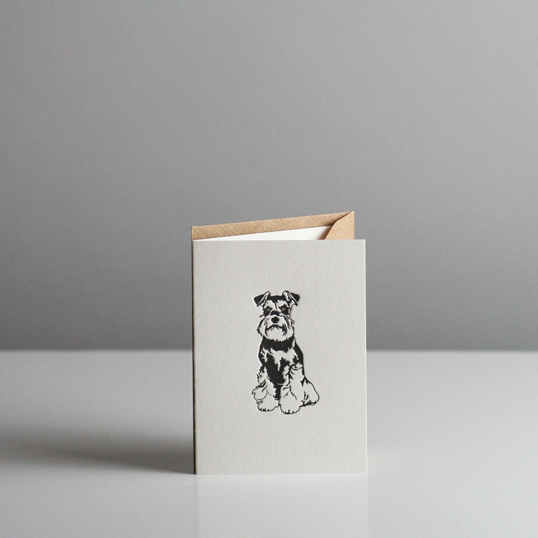 Penguin Ink - Miniature Schnauzer Card