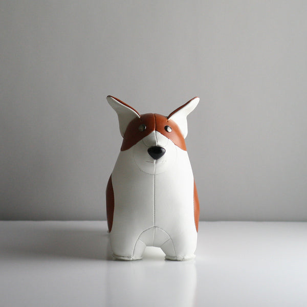 Zuny Corgi Bookend - Tan & White