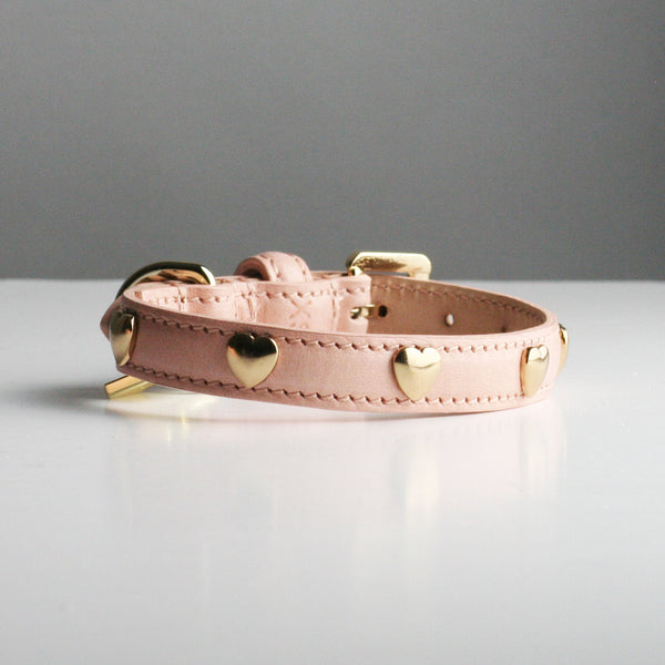 Ginny Dog Collar - Nude Hearts