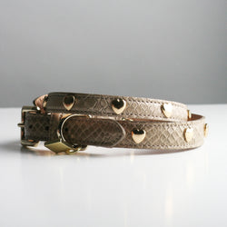 Gracie Dog Collar - Biscuit Hearts