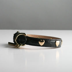 Gracie Dog Collar - Black Hearts