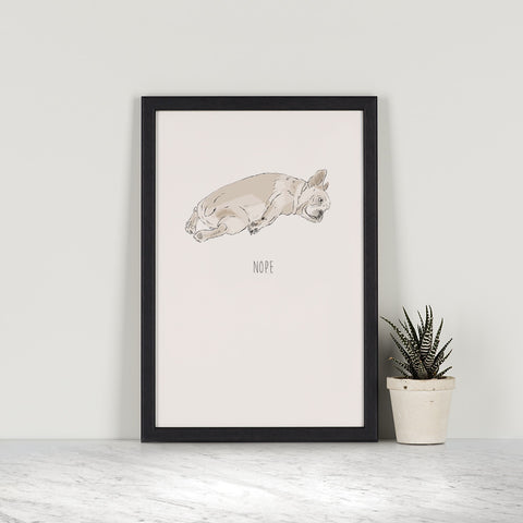 Nope, A5 Print by Ben Rothery