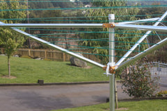 Breezecatcher clothesline three sided rotary clothesline