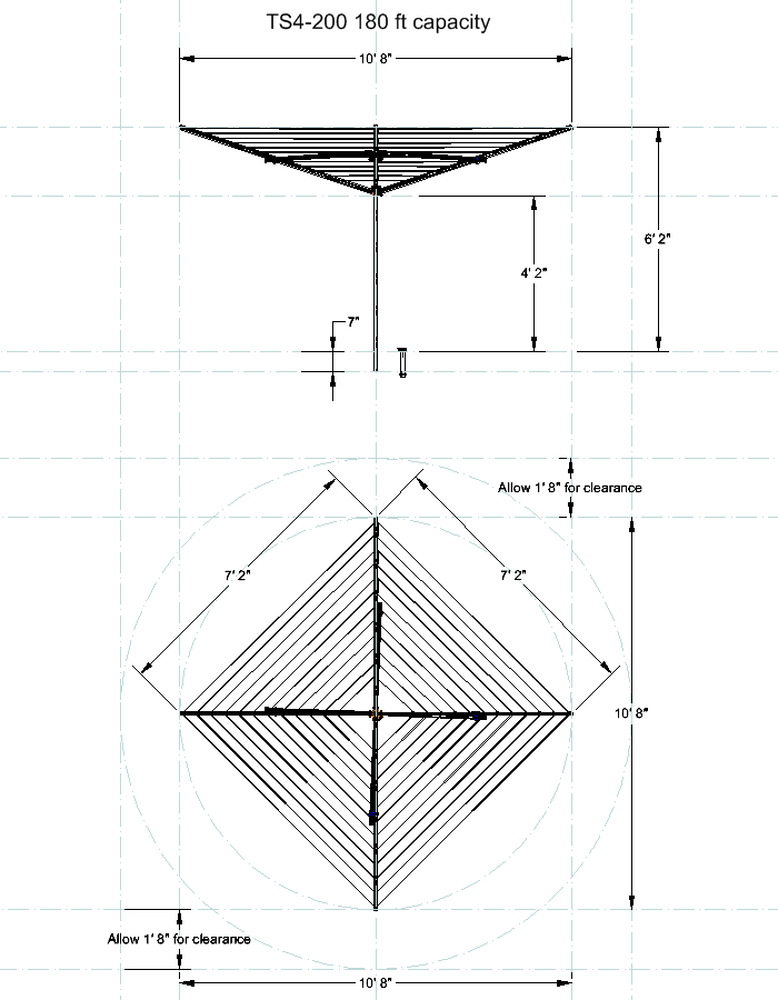 clothesline measurement drawing