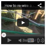 How to rewire a rotary clothesline video