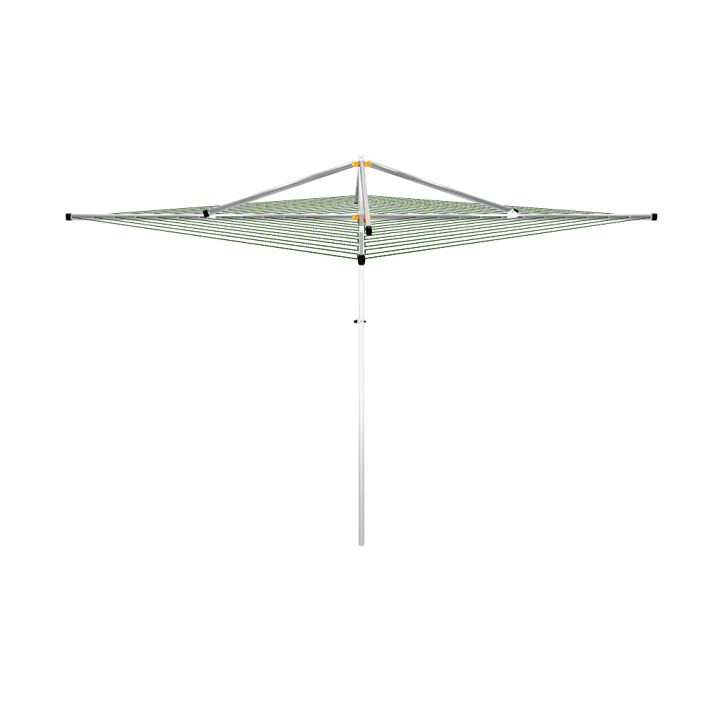 Adjustable height clothesline 3D view