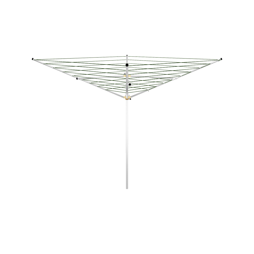Rotary umbrella outdoor clothesline four arm 120 ft TS4-36M AR 3D spin view