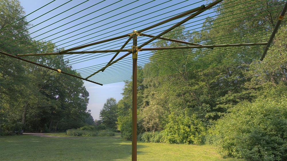 Breezecatcher clothesline WOOD-PLD-6X8-27 - Breezecatcher Clothesline - 1