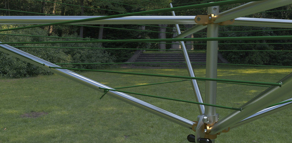 outdoor deluxe top spinning clothesline
