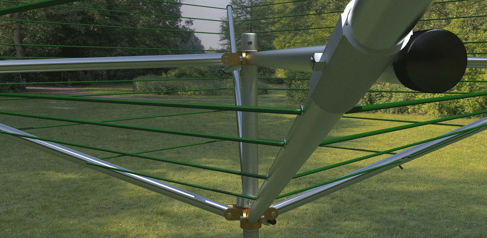 outdoor clothes line deluxe top spinner
