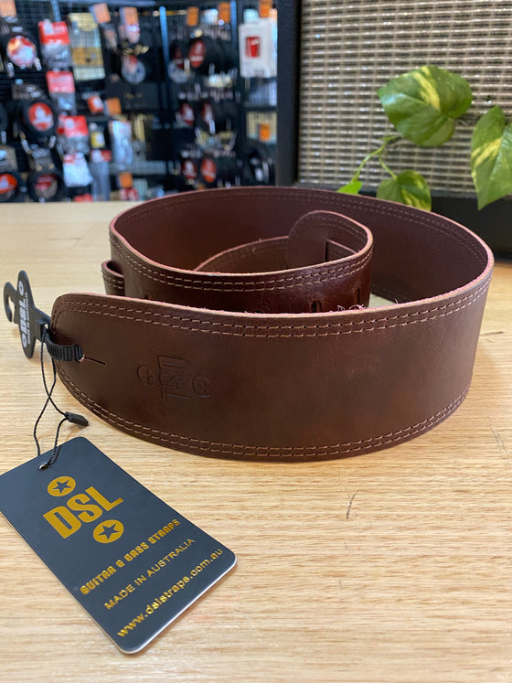 DSL | GMD25-BROWN | Leather | Guitar Strap | 🇦🇺