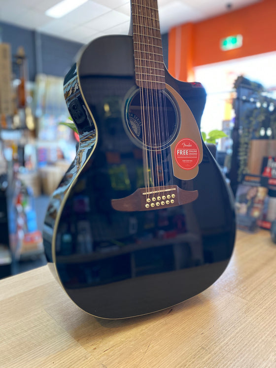 Fender | Villager | 12 String | Black | Acoustic/Electric