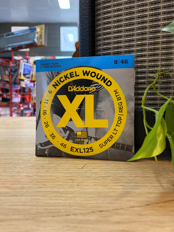 D'Addario | XL125 | 9-46 | Electric | Super Light Top/Regular Bottom | FREE SHIPPING