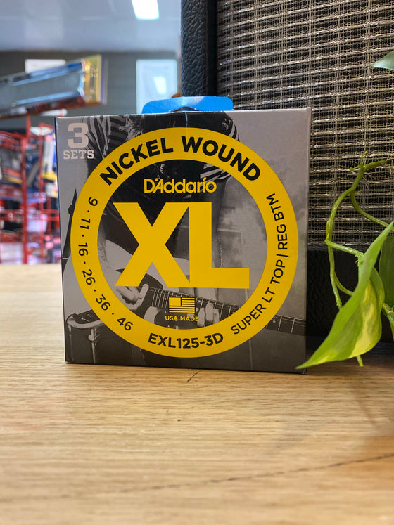 D'Addario | XL1253D | 9-46 | 3-Pack | Super Light Top/Regular Bottom | FREE SHIPPING