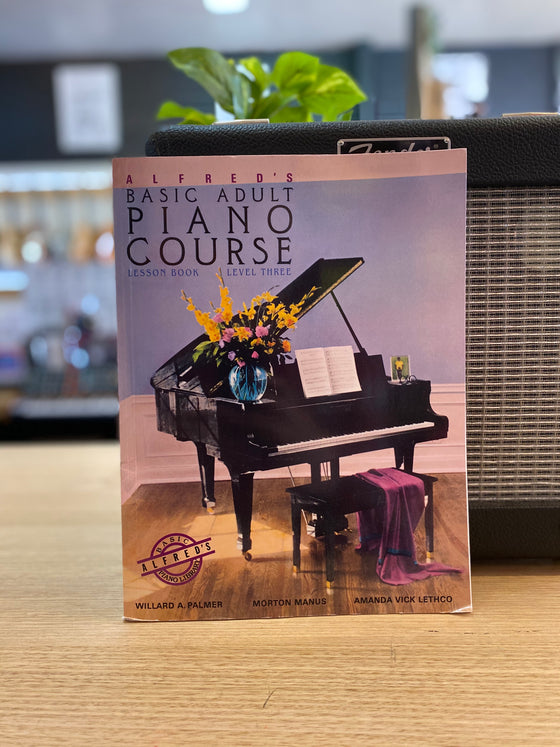Alfred's Basic Adult Piano Course | Lesson Book | Level 3
