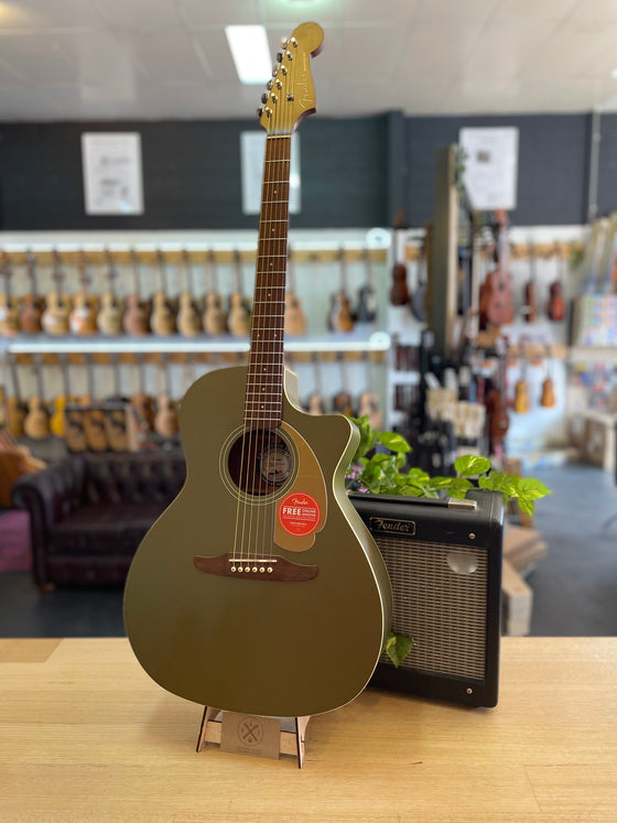 Fender | Newporter | Player | Olive Satin | Acoustic Electric