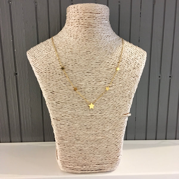 Gold plated dainty star necklace