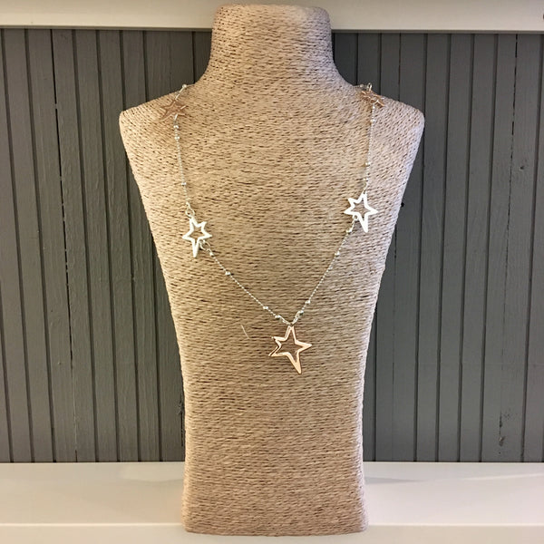 Statement stars necklace
