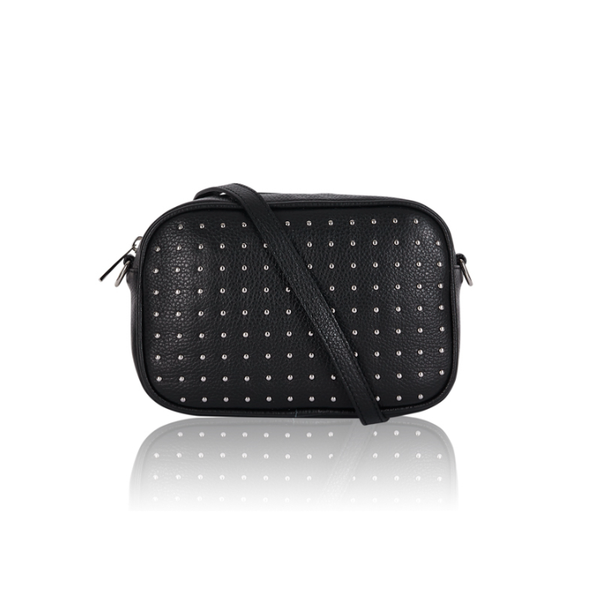 Studded rectangle 'Camera' bag