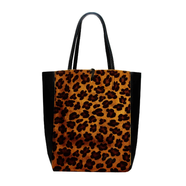 Animal print shopper