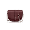 Satchel bag with chain strap
