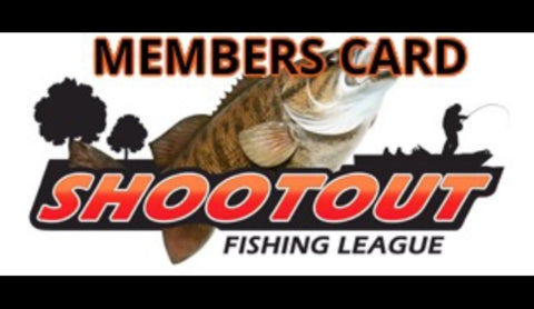 Shootout Fishing League Members Card 2020 Season