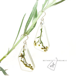 Golden Rod Dangle Earrings