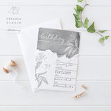 Grey Botanic - Birthday Invitation - ZA Kreated - 2