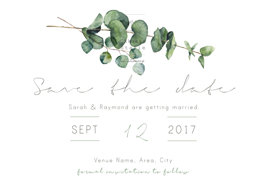 Eucalyptus - Save the Date - ZA Kreated