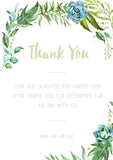 Luscious Leaf - Thank You Card - ZA Kreated