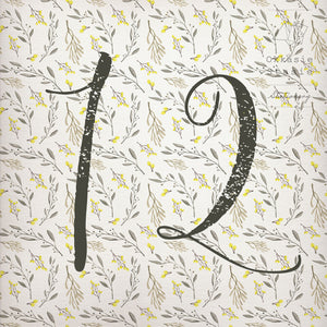 Yellow & So - Table Numbers - ZA Kreated