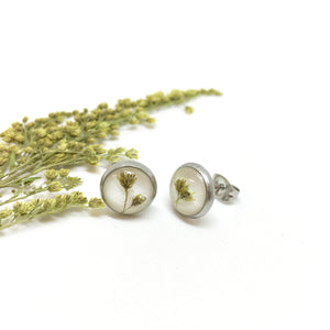 Tiny Botanics Stud Earrings - Golden Rod