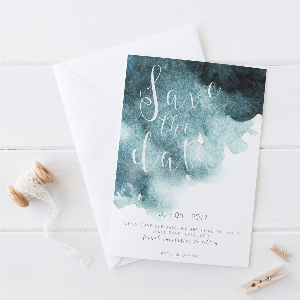 Navy Watercolour - Complete Wedding Package - ZA Kreated - 1