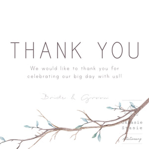 Winter Bloom - Thank You Card - ZA Kreated