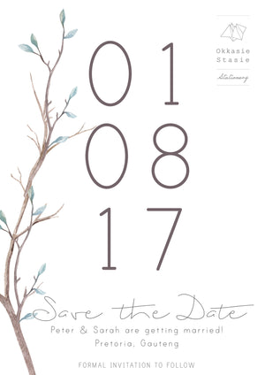 Winter Bloom - Save the Date - ZA Kreated