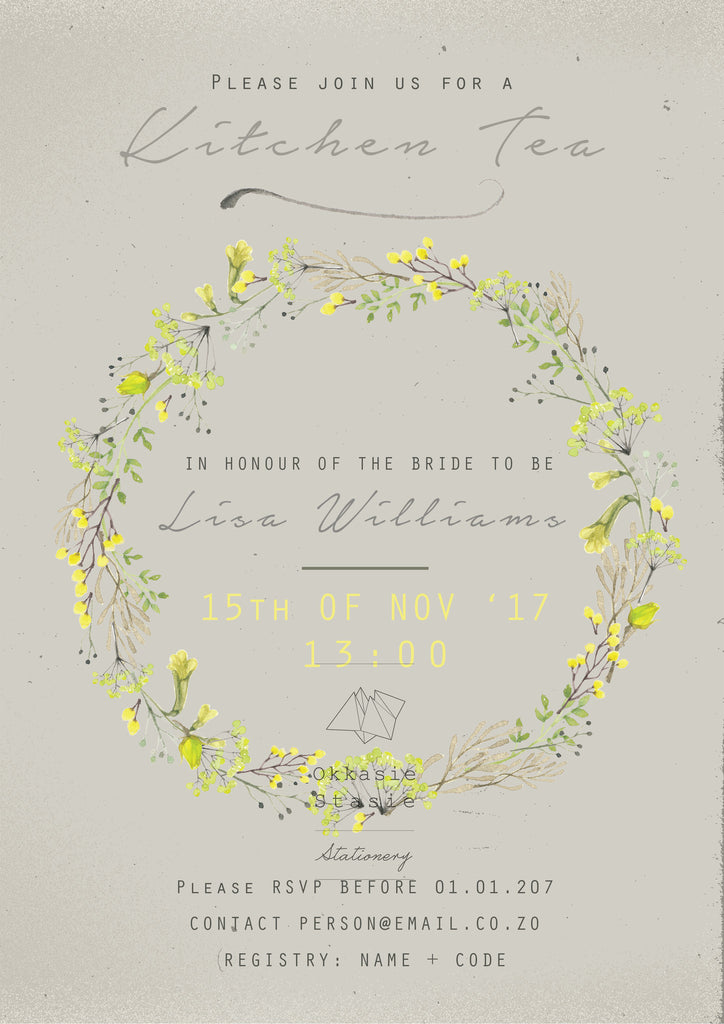 Touch of Yellow - Invitation - ZA Kreated - 1