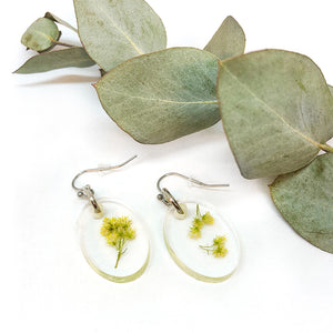 Goldenrod Oval Dangle Earrings