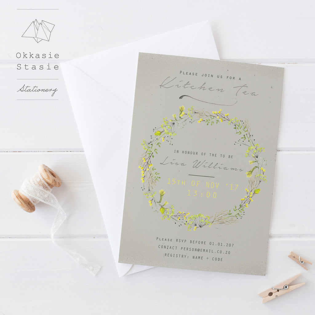 Touch of Yellow - Invitation - ZA Kreated - 2