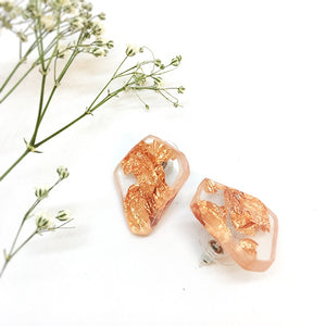 Organic Stud Earrings - Copper