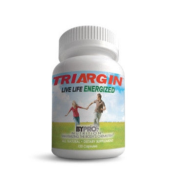 Triargin - All Day Energy and Vitality - 120 Capsule Bottle with 1 Penny SHIPPING