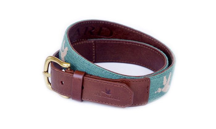 Green with Khaki Duck Mallard Belt - The Mallard - 1