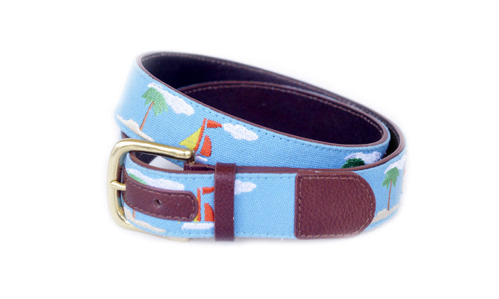Light Blue Vacation Belt - The Mallard - 1
