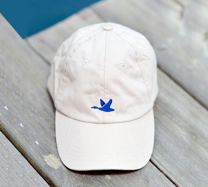 Khaki with Navy Blue Duck Hat - The Mallard - 1