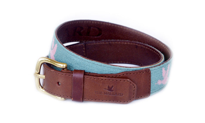 Light Green and Pink Mallard Belt - The Mallard - 1