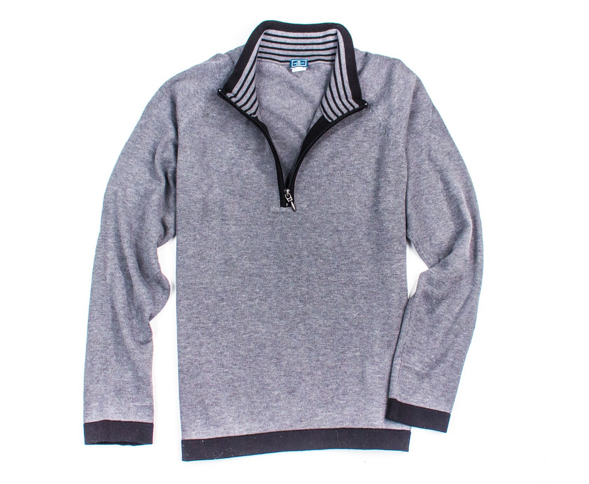 Women's 1/4 Zip Pullover - Grey - The Mallard - 1