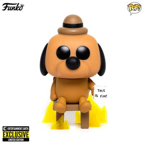 Funko Pop! Icons: This is Fine Dog #56 Entertainment Earth Exclusive